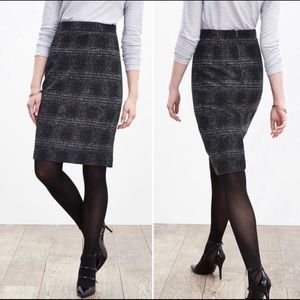 BR Plaid Pencil Skirt